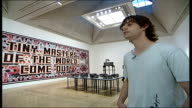 Mark Titchner and Phil Collins interviews ENGLAND London Tate Britain INT Mark Titchner interview SOT A mixture of fear and excitement a certain...