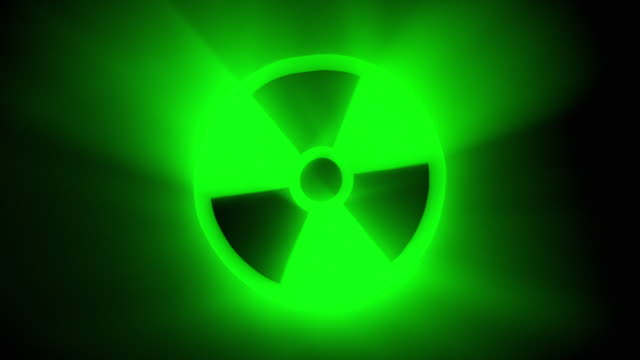 Turning Green Nuclear Sign Stock Footage Video | Getty Images