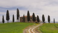 A Tuscan farmhouse in the Val d'Orcia.