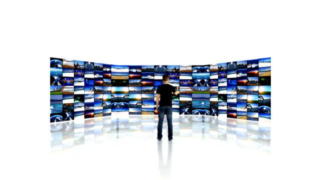 Tv wall and media screens
