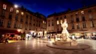 Twilight in Bordeaux Square, France