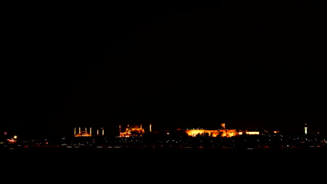 Twilight over Istanbul and the Bosphorus Strait Timelapse