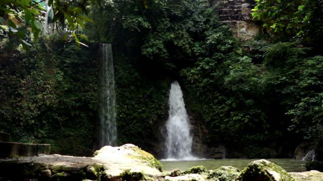 Twin falls at Mantayupan Falls