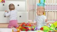 HD: Two Adorable Toddlers Having Fun