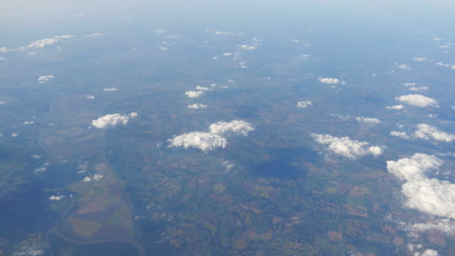 Two aerial shots above the clouds in 4K