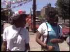 Two AfricanAmerican girls calling themselves the 'Royalty Ladies' rap on a Bronx sidewalk