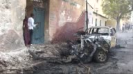 Two bomb attacks targeting officials in Somalia's internationallybacked government hit the capital Mogadishu on Monday killing at least one person...