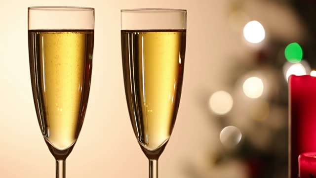 Two champagne glass romantic