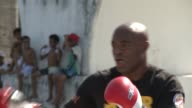 Two days before their highly anticipated bout ultimate fighting stars Stephan Bonnar and Anderson Silva held a public training session Wednesday in...