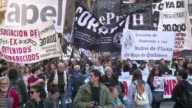 Two disappearances were the focus of a march in the Argentine capital Monday as thousands of protesters rallied to demand explanations behind the...