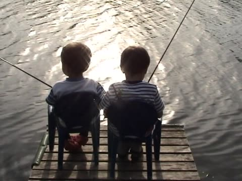 Two friends fishing