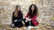 Two girls chatting