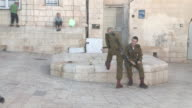 Two IDF soldiers relax
