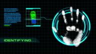 Zwei in einem Video Fingerabdruck-Scanner Sicherheit mit Alpha-Kanal