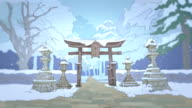 two japan stylized backgrounds