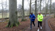 Two Joggers Training for a Marathon