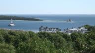 Two lighthouses at Mackinac island - HD 1080/60i