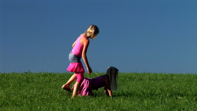 HD: Two Little Girls Playing
