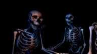 Two (2) loopable versions of Skeletons greeting you