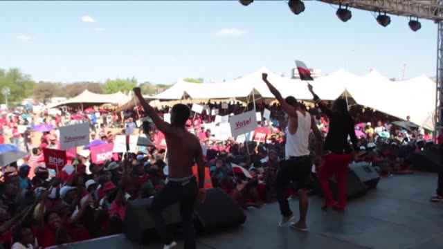 Two major parties contesting Botswana's upcoming general elections held their final rallies Saturday ahead of what is expected to be the most...