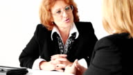 Two mature businesswomen team