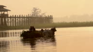 Two Men on a Carriage by U Bein Bridge 3