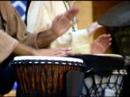 Two men playing Gypsy Drums at outdoor Festival 1