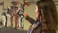 Two new Banksy artworks appear near the Barbican Centre Vox pops New Banksby mural on wall TILT UP