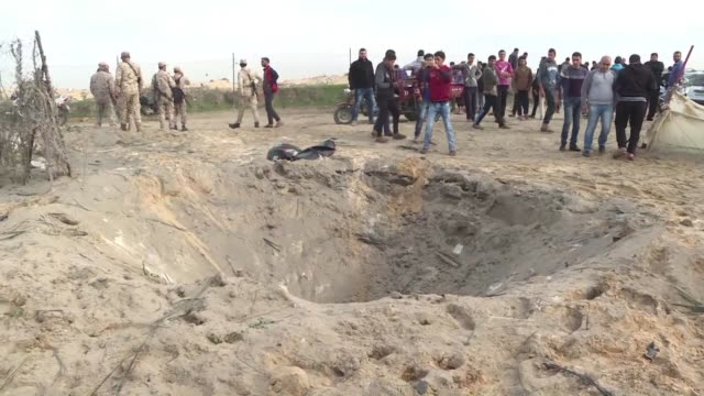 Two Palestinians were killed in the Gaza Strip on Tuesday with authorities in the Hamas run territory blaming an Israeli strike but Israel's military...