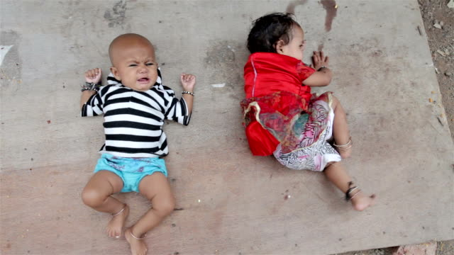 Two Rural Indian infants kids