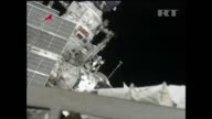 Two Russian cosmonauts on Thursday completed a sixhour spacewalk in which they launched a micro satellite honouring the first spaceman Yuri Gagarin...