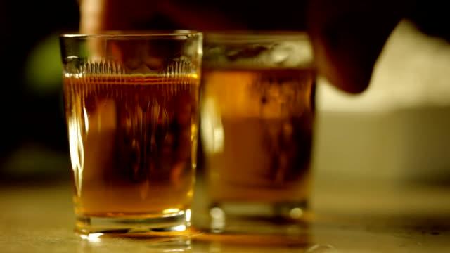 Two shots of hard liquor