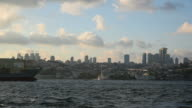 Two Tankers Passing The Bosphorus