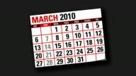 two thousand and ten calendar