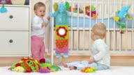 HD: Two Toddlers Having Fun