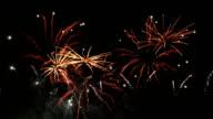 Twee video's van vuurwerk