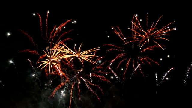 Two videos of fireworks