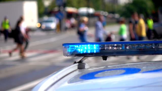 Twee video's voor politie lights in echte Slowmotion