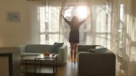 Zwei videos an sonnigen Morgen in 4 K