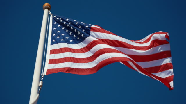 Two videos of USA flag in 4K
