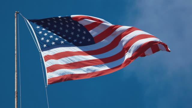 Twee video's van USA vlag in 4K