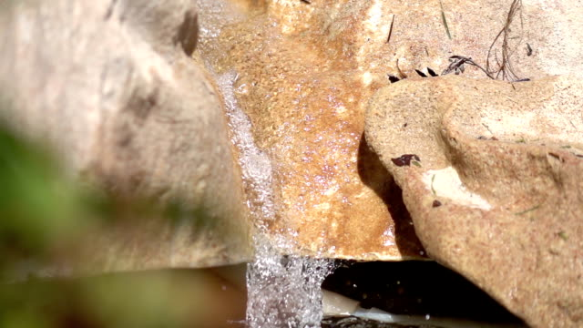 Two videos of waterfall in real slow motion