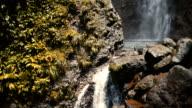Two Waterfalls on Tropical Island