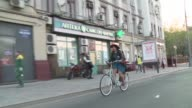 Two years ago Luiza Nesterova would never have dreamt of cycling to work in Russia's capital