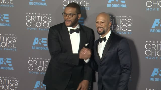 Tyler Perry and Common at the 20th Annual Critics' Choice Awards at Hollywood Palladium on January 15 2015 in Los Angeles California