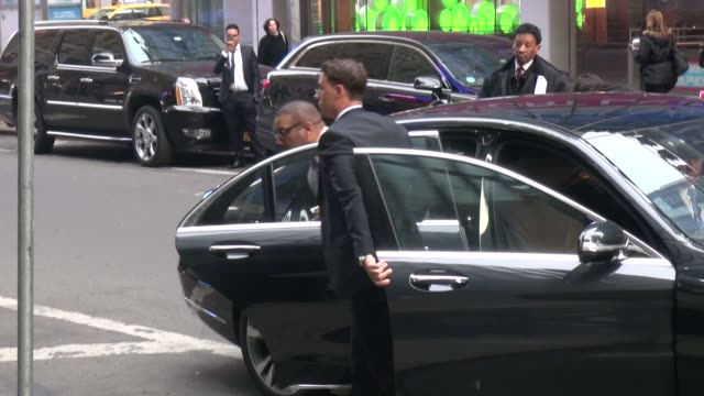 Tyler Perry arrives at the Good Morning America show in Celebrity Sightings in New York