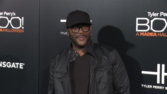 Tyler Perry at Premiere Of Lionsgate's 'Boo A Madea Halloween' in Los Angeles CA