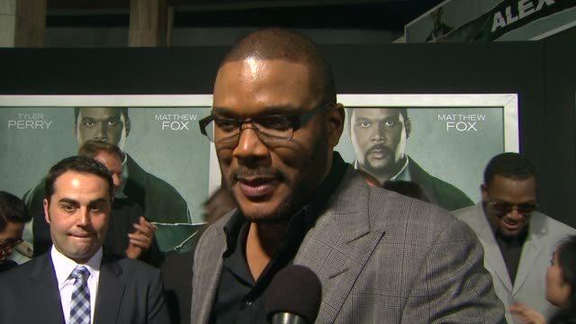 Tyler Perry on the event at Alex Cross Los Angeles Premiere on in Hollywood CA