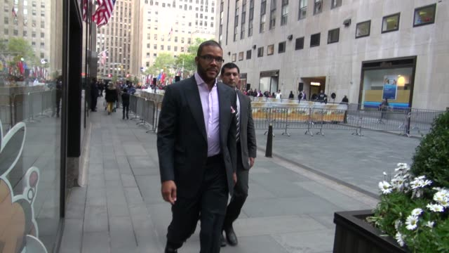 Tyler Perry outside NBC Studios Tyler Perry outside NBC Studios on October 17 2012 in New York New York