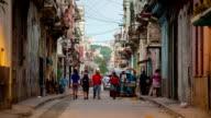 Typical street scene in old Havana Cuba.